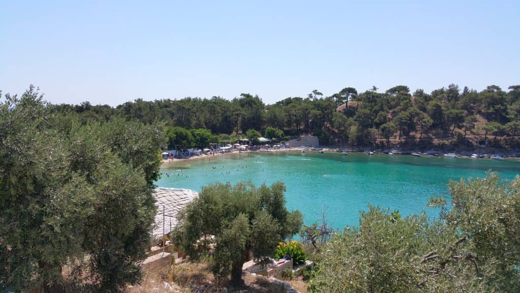 Aliki Thassos popular bay