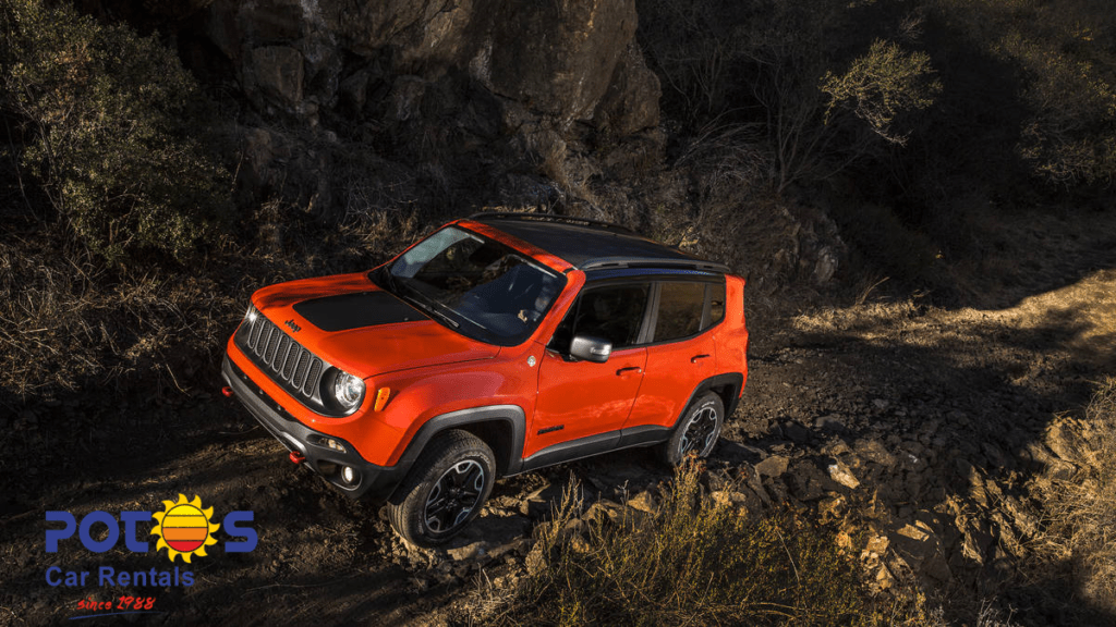 Orange Jeep Renegade model