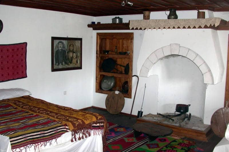 interior of a traditional thassian house