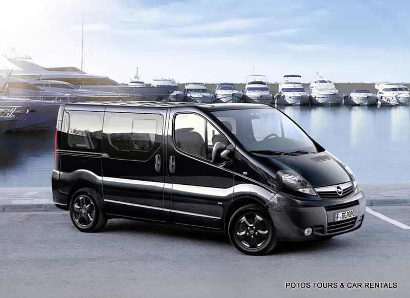 Mini Van Opel Vivaro at the port