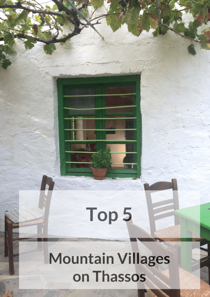 Traditional green window in Thassos
