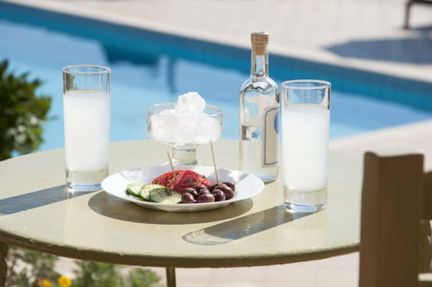 Greek Ouzo and meze