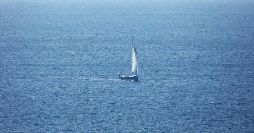 thassos aeolus yacht on the aegean sea