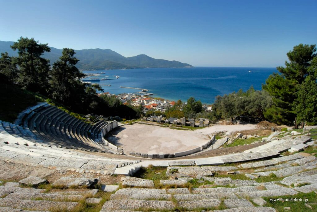 Ancient Amphitheater in Limenas Thassos Town Greece