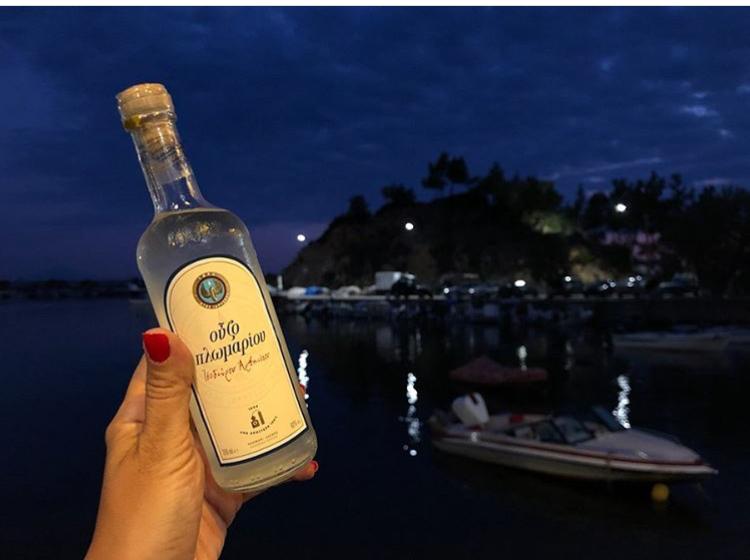 bottle ouzo limenaria thassos