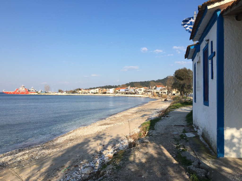 coronavirus lockdown limenas beach
