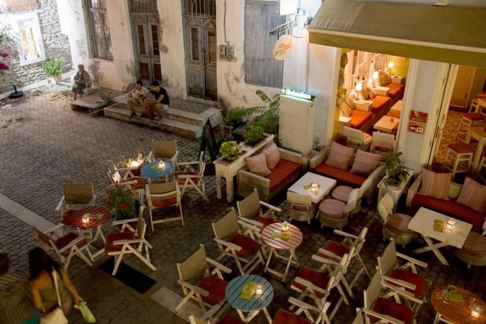 street cafe bar limenaria thassos