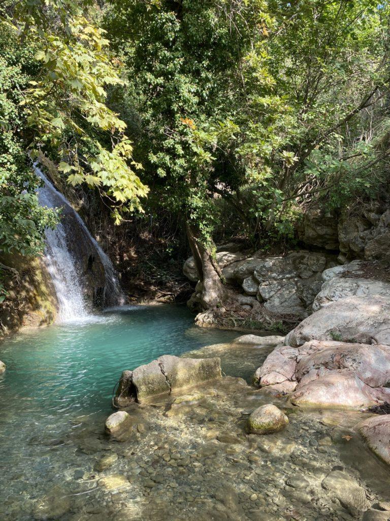 waterfalls thassos