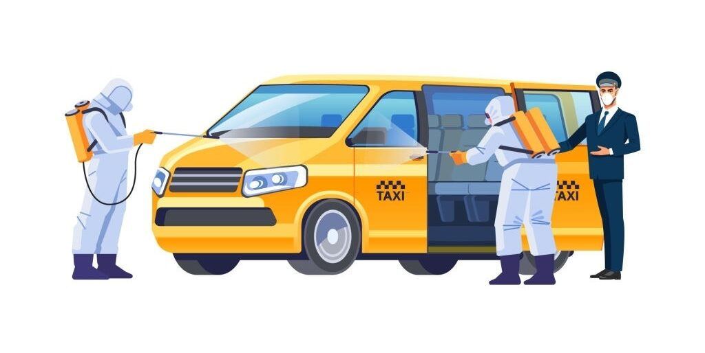 Covid car taxi sanitation