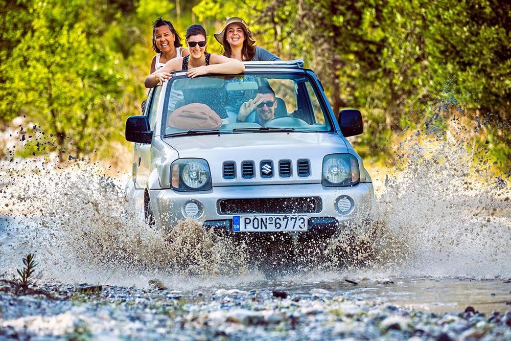 Suzuki Jimny Safari in Thassos