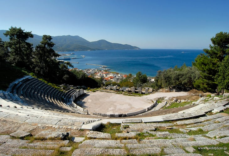 Taxi to Ancient Theater in Limenas